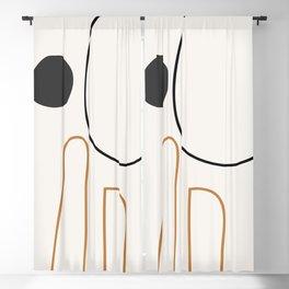 abstract minimal 55 Blackout Curtain