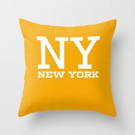 NY New York City Throw Pillow