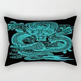 Epic Dragon Teal Rectangular Pillow