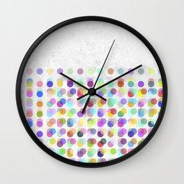 Pastel Dots Wall Clock