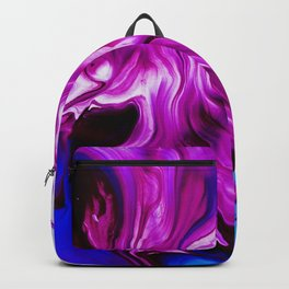 Blue and Magenta Abstract Backgroung - Paint Liquid in Water Backpack