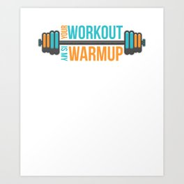 Fitness Workout Training Gym Cardio Dumbbell Gift Art Print