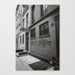 Monochrome You Go Girl Canvas Print