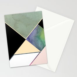 Tangram Square Three Stationery Cards