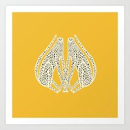 Snow Cheetahs Art Print