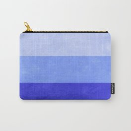 Blue Grunge Stripes Carry-All Pouch