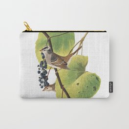 White crowned sparrow, Birds of America, Audubon Plate 114 Carry-All Pouch