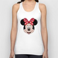 minnie Tank Tops featuring Minnie Mouse by Yuliya L