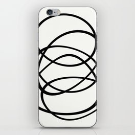 Come Together - Black and white, minimalistic, abstract, art print iPhone Skin