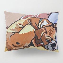 Abby Rests Boxer Dog Portrait Pillow Sham