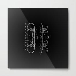 Skateboard Schematics Metal Print