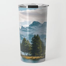 Two Jack Lake & Mt. Rundle Travel Mug