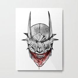 Bloody Bat Laughing Metal Print