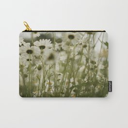 white daisies :) Carry-All Pouch