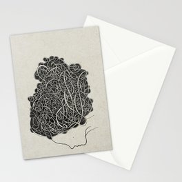 Amanda with curly grey hair Stationery Cards