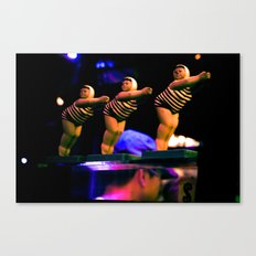 Divin' In Canvas Print