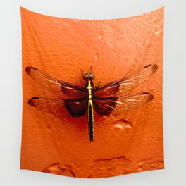 Dragonfly on the Wall Wall Tapestry