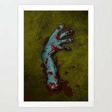 Zombie Arm Art Print
