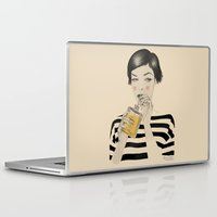drink Laptop & iPad Skins featuring Drink Responsibly by Roberta Zeta