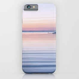 Pastel ripples sea and sky iPhone Case