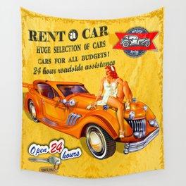CAR RENTAL Wall Tapestry