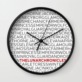 Type: Lunar Chronicles Wall Clock
