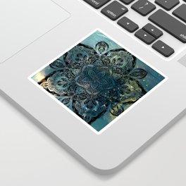 Flower mandala -night Sticker