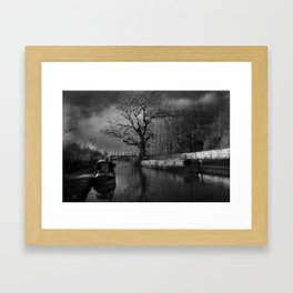 Storm Brewing Framed Art Print