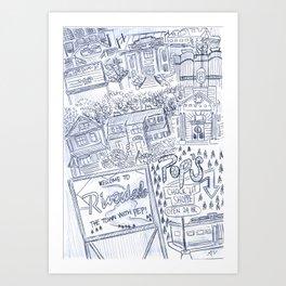 Riverdale Map Art Print