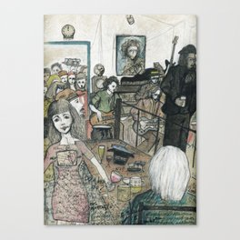 Berlin life in a bar Canvas Print