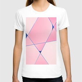Pink Posh geometric pattern for home decoration T-shirt