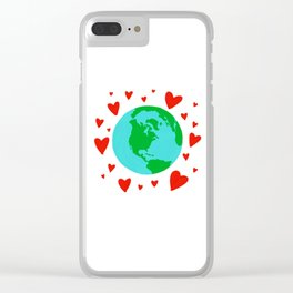Love the Earth, Save the Earth Clear iPhone Case