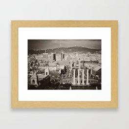 Barcelona: From Montjuic Framed Art Print