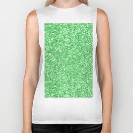 Green glitter texture print Biker Tank
