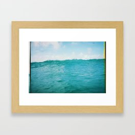 Wave, 35mm film Framed Art Print