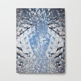 Blue water in crystals Metal Print