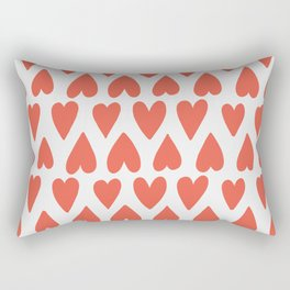 Shapes Nr. 4 - Red Hearts Rectangular Pillow