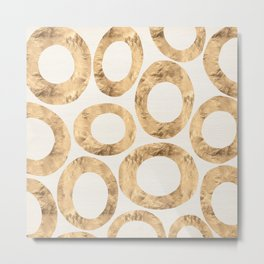 Large Circles (Ivory) Metal Print