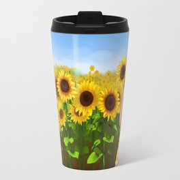 Sunflower Garden Travel Mug