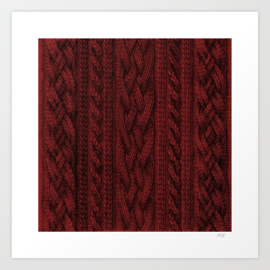 Cardinal Red Cable Knit by zanna