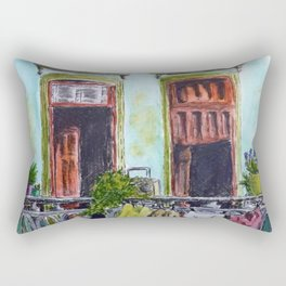 Cuban Balcony Rectangular Pillow