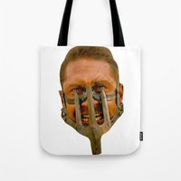 mad max Tote Bags featuring Mad Max by Sten