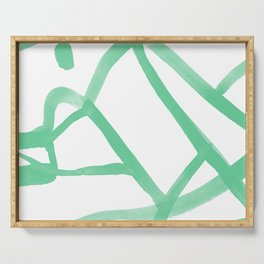 Abstract Map green Nr.2 Serving Tray