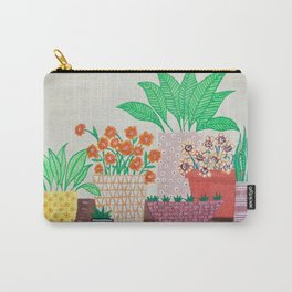 Plants in Printed Pots Carry-All Pouch