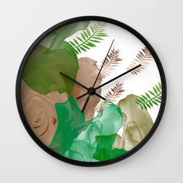 Citrus Petals Wall Clock