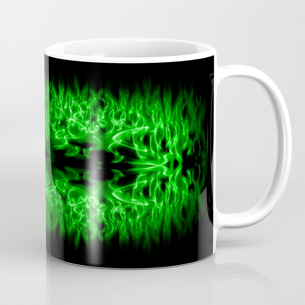Green Fire Tea Cup by Cozmicphotos MUG802176