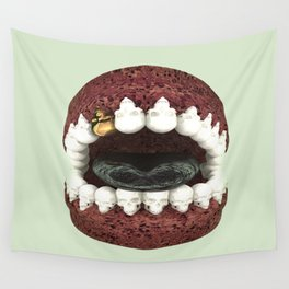 Death Kiss... Skull Mouth... Dental with Something Badass? Wall Tapestry
