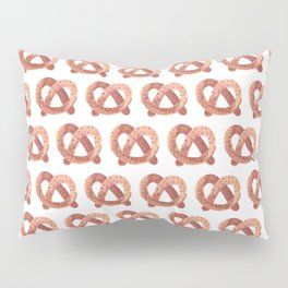 Pretzel watercolor pattern Pillow Sham