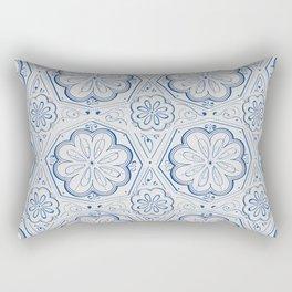 Blue Floral Rectangular Pillow
