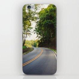 Curvy road iPhone Skin